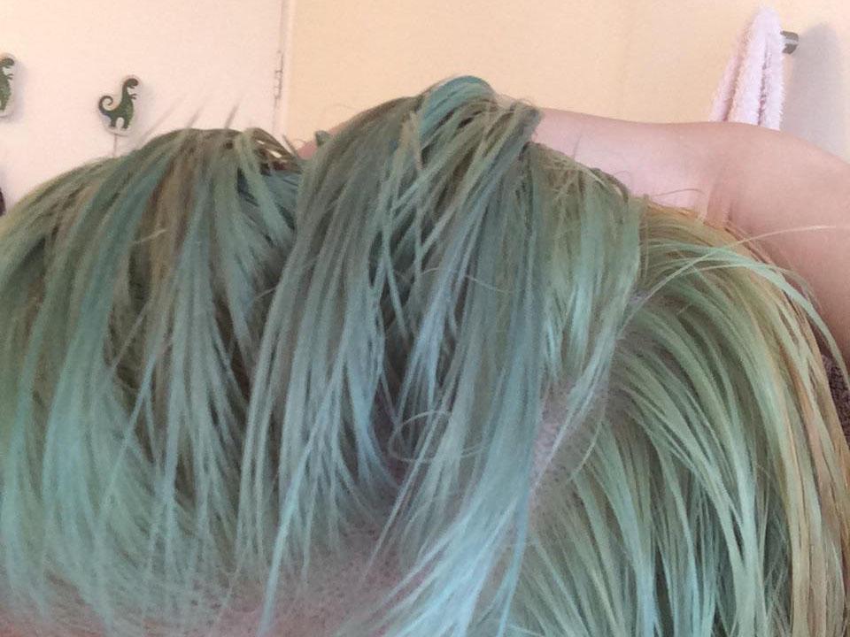 haar groen na blonderen